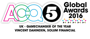 ACQ5 Global Awards 2016 – UK Gamechanger of the Year – Vincent Dahinden, Solum Financial